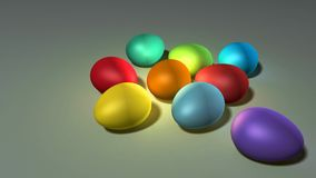 färgeaster ägg Arkivfoto