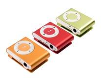 Färgen för spelare MP3 Arkivfoto