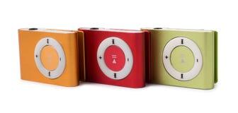 Färgen för spelare MP3 Fotografering för Bildbyråer