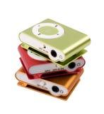 Färgen för spelare MP3 Arkivbild