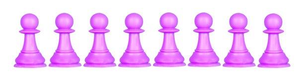 Färgen pantsätter, schackstycken Royaltyfri Foto