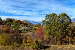Färger av Abruzzo i Autumb Arkivbild