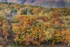 Färger av Abruzzo i Autumb Fotografering för Bildbyråer