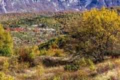 Färger av Abruzzo i Autumb Arkivfoto
