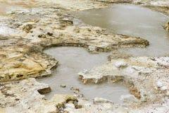 Färger av en geotermisk vår san miguel, azores Arkivfoto