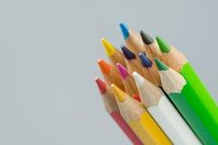 Färger av färgläggningblyertspennorna Arkivfoton