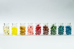 Färger av gelatinkapslar 1 Fotografering för Bildbyråer