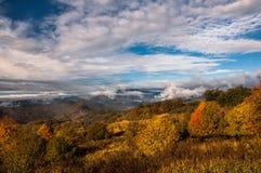 Färger av hösten i Georgia Slutet av Oktober 2015 Arkivfoton
