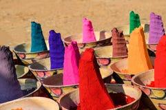 Färger av Indien, Rajasthan, Indien Arkivfoto