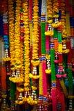 Färger av thailändska girlander Arkivbild