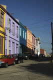 Färger av världsarvet av Valparaiso Arkivbild
