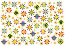 färger blommar många Arkivbilder