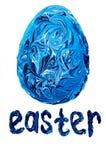 Färger för blått för påskägg målade Arkivbilder
