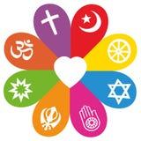 Färger för förälskelse för religionsymbolblomma stock illustrationer