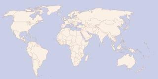 Färger för konturvärldskartatappning Royaltyfri Foto