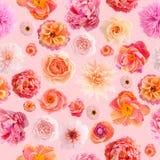 Färger för sömlös modell för kräppapperblomma pastellfärgade Royaltyfri Foto