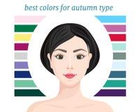 Färger för vintertypen också vektor för coreldrawillustration royaltyfri illustrationer