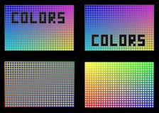 Färger i fyrkanter Royaltyfri Bild