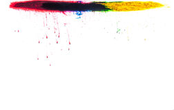 Färger i vatten Fotografering för Bildbyråer