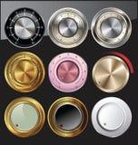 färger kontrollerar olika knoppar Arkivbild