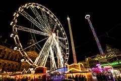 Färger och ljus Luna Park i Amsterdam Royaltyfria Bilder