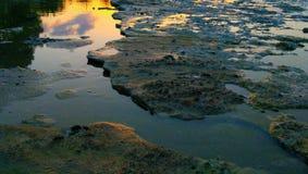 Färger och vatten Fotografering för Bildbyråer