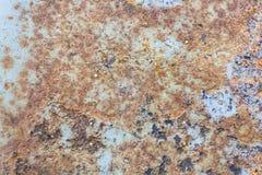 Färger och yttersidatextur av Rusty Metal Arkivfoto