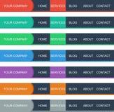 Färger sänker navigering i vektor Royaltyfria Foton