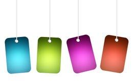 färger shoppar Arkivbild