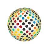 Färger som 3D framför spektret, rundar Dots World Globe Concept Vector symbolbakgrund Illustration_7 vektor illustrationer