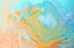 Färger som skapas av olja och målarfärg Fotografering för Bildbyråer