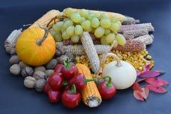 färgerna av hösten på tabellen arkivbilder