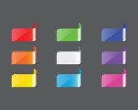 Färgetikett stock illustrationer
