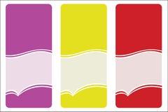 färgetiketter vektor illustrationer