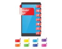 Färgetikettsärdrag för smartphone royaltyfri illustrationer