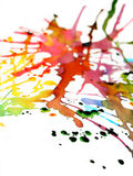 färgexplosion ii Arkivfoto