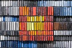 färgexponeringsglasmosaik Arkivfoto