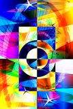 färgfärgstänk Fotografering för Bildbyråer