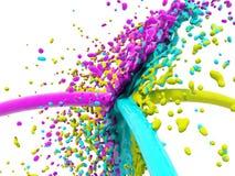 färgfärgstänk Arkivbilder