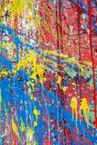 färgfärgstänkvägg Arkivbilder
