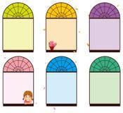 färgfönster vektor illustrationer