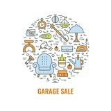 Färgförsäljning hemifrånbegrepp 1 Arkivbilder