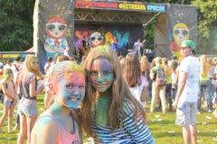 Färgfestival kazan Arkivbild
