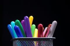 färgfiberpennor Arkivfoton