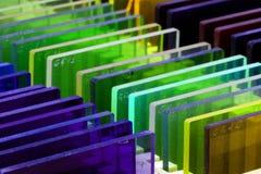 Färgfilter i en ask arkivfoton
