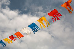färgflaggaflutter Arkivbilder