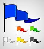 färgflaggasport stock illustrationer