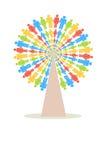Färgfolkträd Fotografering för Bildbyråer