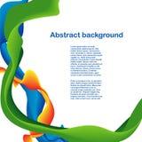 Färgformer och linjer design Arkivfoton