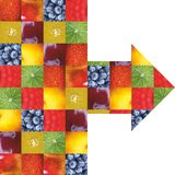 Färgfrukter och grönsaker ny mat Begrepp collage arkivfoto
